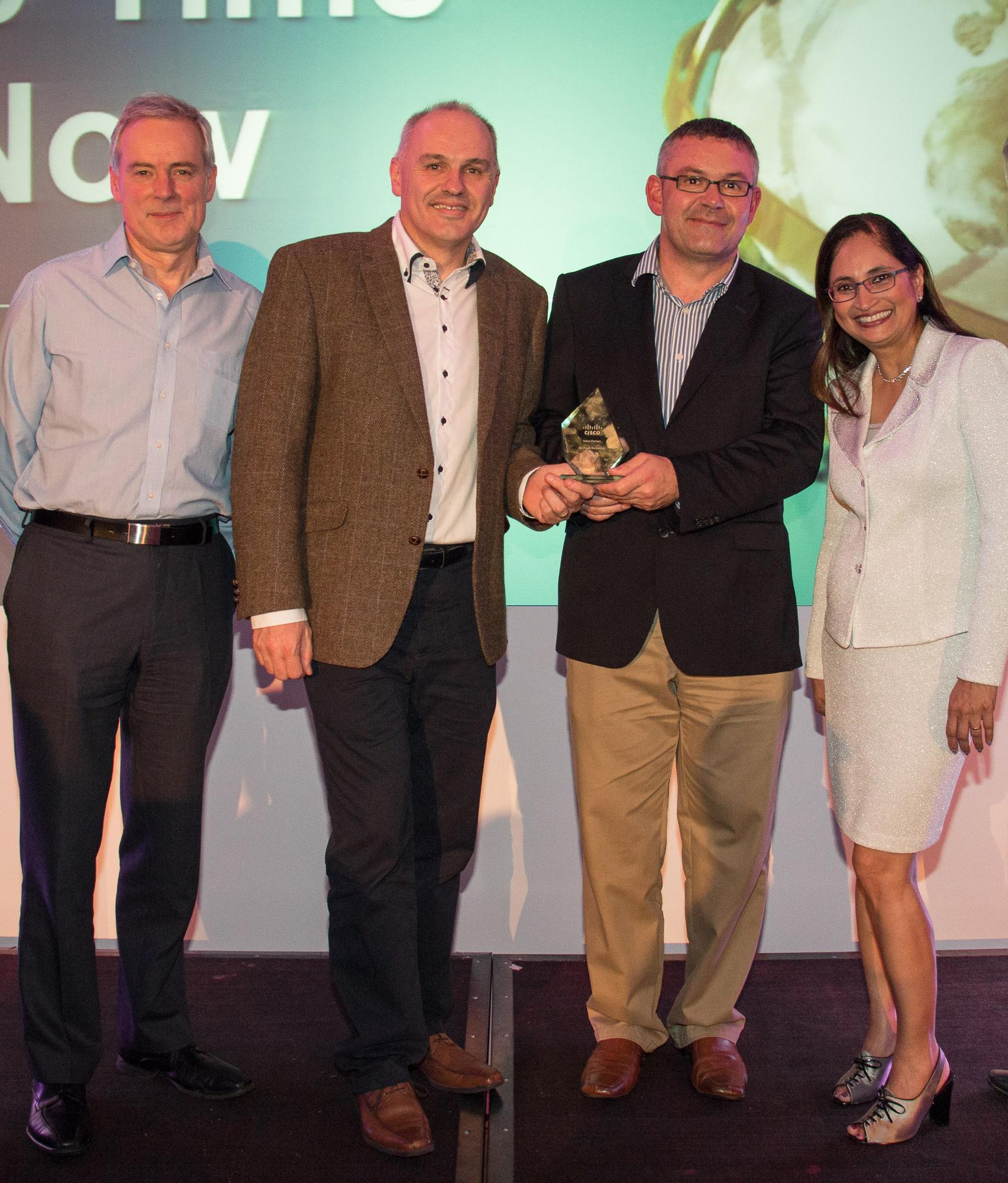 MJ Flood Technology recognised with Irish Partner award for 'Cisco Ireland Select Partner of the Year FY14' at Cisco's FY14 Ireland Partner Forum